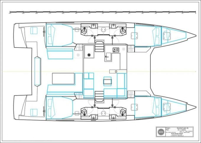 Open 46 catamaran croisiere